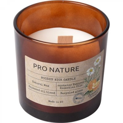 Doftljus i glas Pro Nature Camomille & Orange